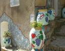 Pots de fleurs à Speluncato